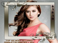 100 MOST ALLURING FEMALE CELEBS 2011 SARAH GERONIMO