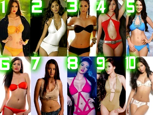 TOP 10 FHM SEXIEST WOMEN IN PHILIPPINES 2012