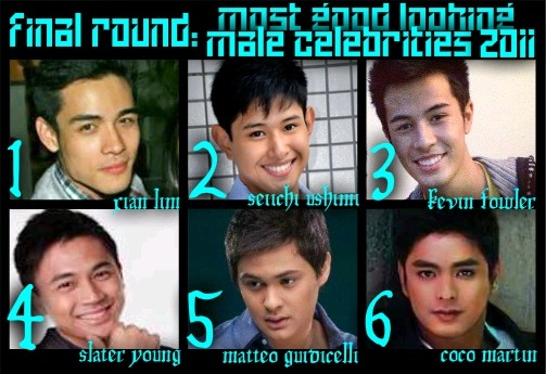 most good looking male celeb 2011  final