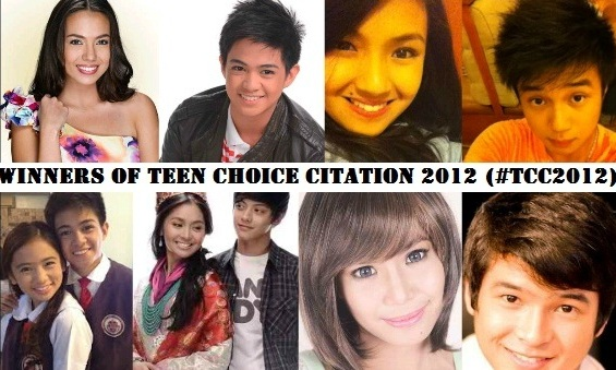 teen choice citation 2012 FULL list winners