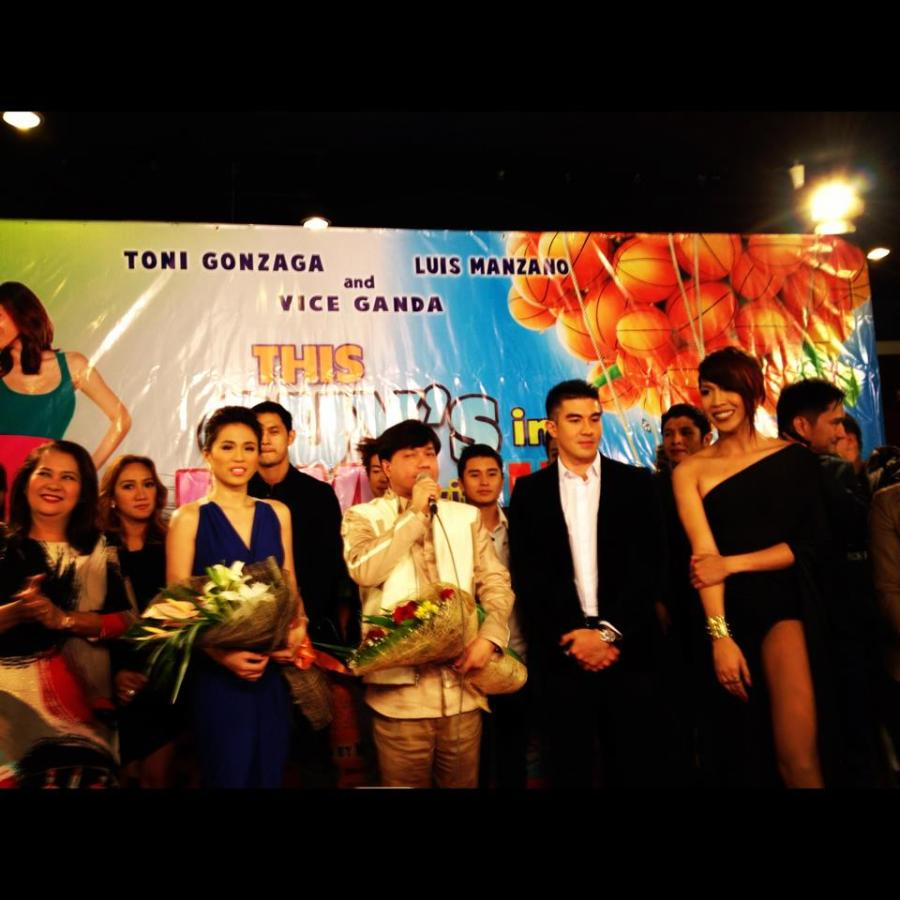 This Guy's in Love With You Mare cast in their Premiere Night at Megamall Cinema 10 with Director Wenn V. Deramas
