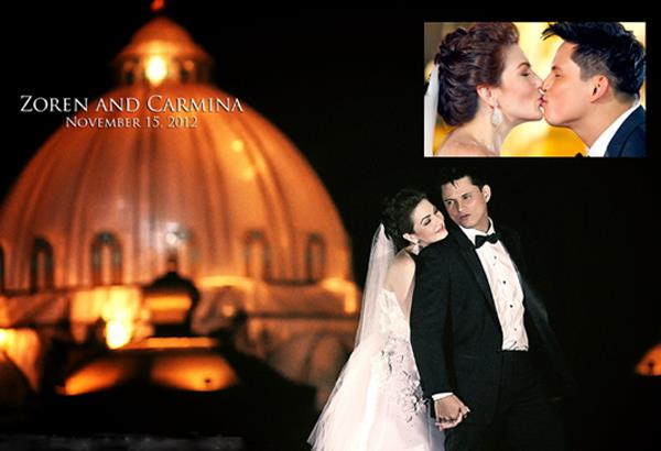 carmina villaroel zoren legaspi wedding airs in abs cbn