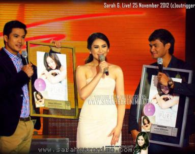SARAH GERONIMO RECEIVES PLATINUM AWARDS IN SARAH G LIVE