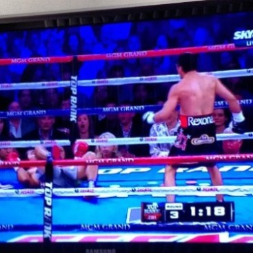 manny p knock down!