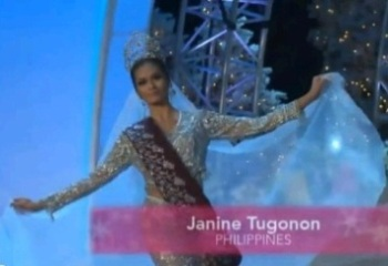 MISS PHILIPPINES JANINE TUGONON FOR miss universe 2012 preliminaries national costume1