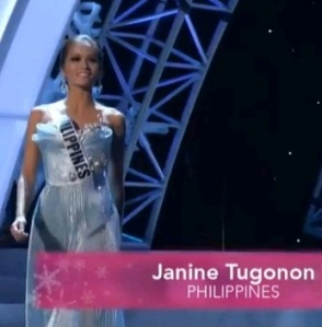 MISS PHILIPPINES JANINE TUGONON FOR miss universe 2012 preliminaries3