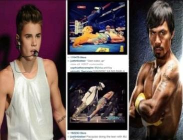 pacquiao vs bieber mocking instagram photos2