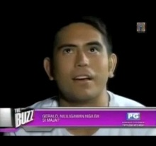 gerald on the buzz maja issue video2
