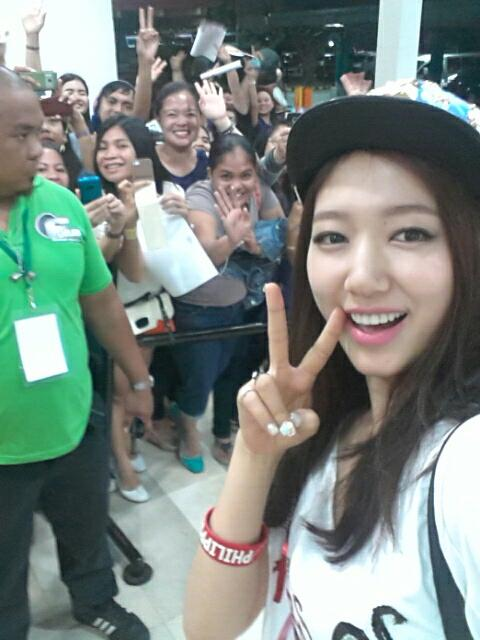 park shin hye in philippines singing kailan of mymp