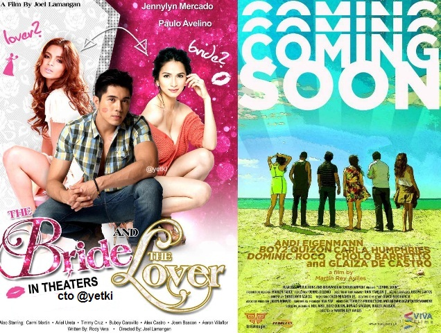 Movie Trailers of 'Coming Soon' and 'The Bride And The Lover'