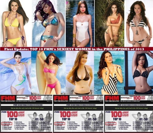 FHM SEXIEST WOMEN IN PHILIPPINES 2013 FIRST CURRENT RANKINGS2 AND UPDATE TOP 10