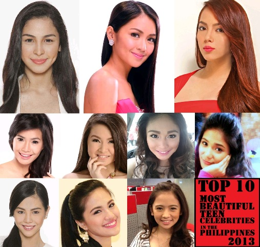 Top 10 Most Beautiful Teen Celebrities in the Philippines 2013 Revealed!