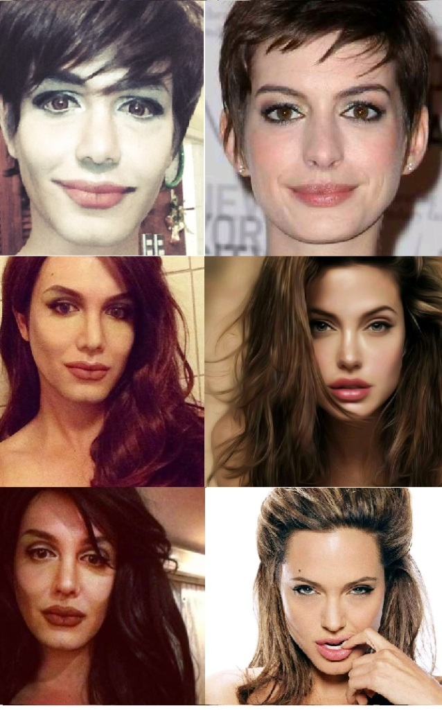 Paolo Ballesteros as Anne Hathaway and Angelina Jolie