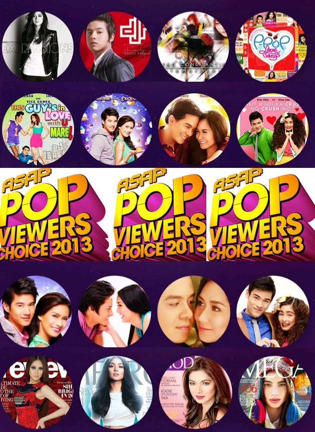 asap pop viewers  choice  awards 2013 nominees complete LIST
