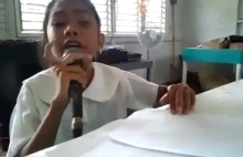 Blind Girl in Philippines sings WRECKING BALL