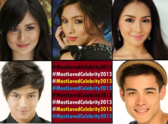 Kim Chiu, Sarah Geronimo, Kathryn Bernardo, Daniel Padilla and Xian Lim Are In A Tight Race for #MostLovedCelebrity2013