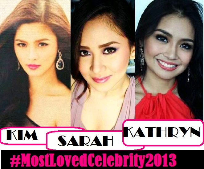 Kim Chiu, Sarah Geronimo, Kathryn Bernardo Dominate #MostLovedCelebrity2013 Latest Update