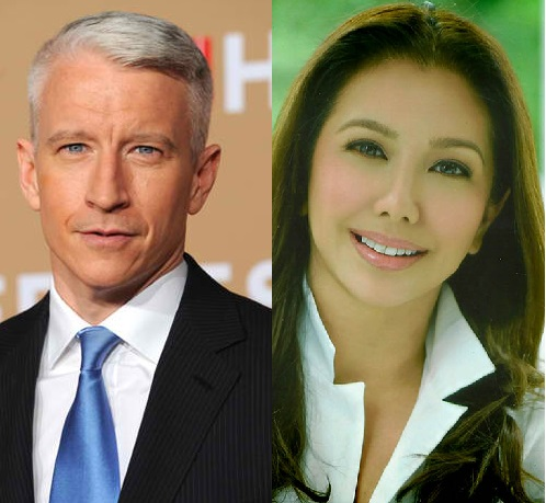 ANDERSON COOPER RACTS TO KORINA SANCHEZ