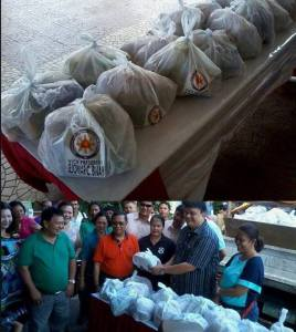 jejomar binay name on relief goods2