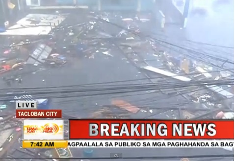 yolanda hits tacloban video