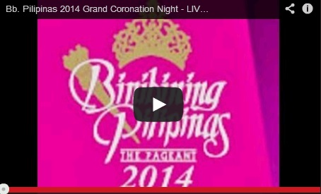 Binibining Pilipinas 2014 Coronation Night Live Streaming [VIDEO]