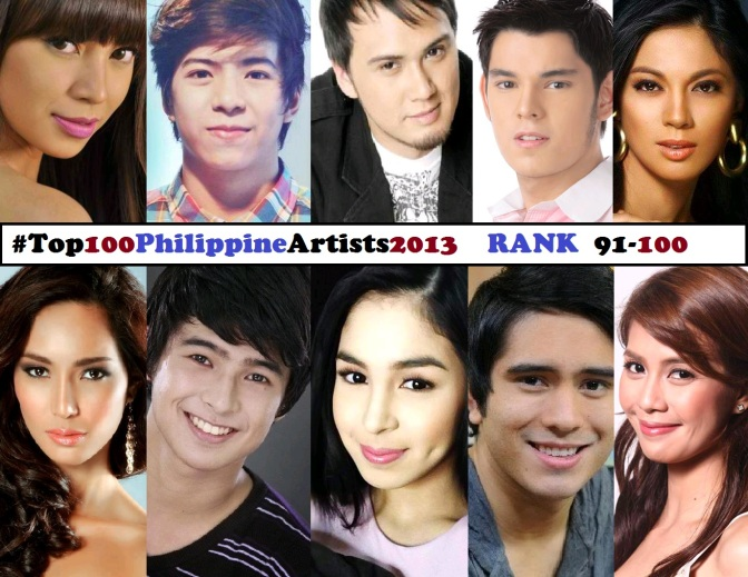 Top 100 Philippine Artists for 2013 [Rank 91-100]