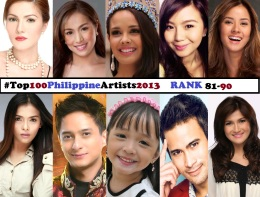 Top 100 Philippine Artists for 2013 [Rank 81-90]