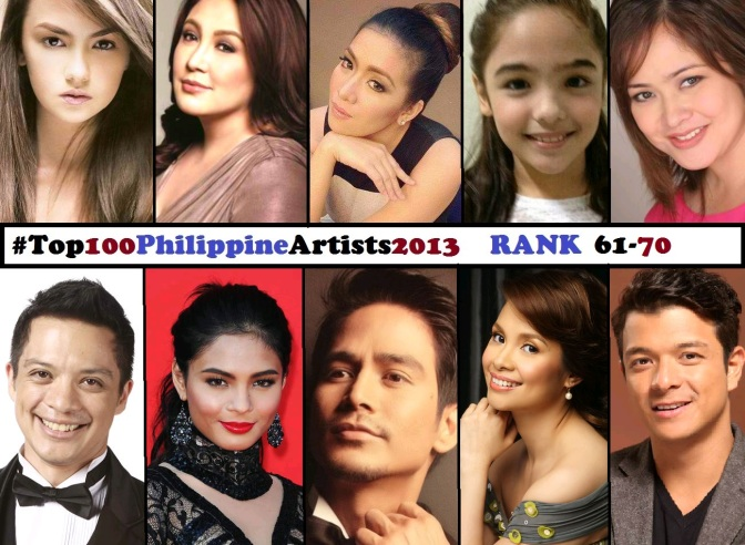 Top 100 Philippine Artists for 2013 [Rank 61-70]