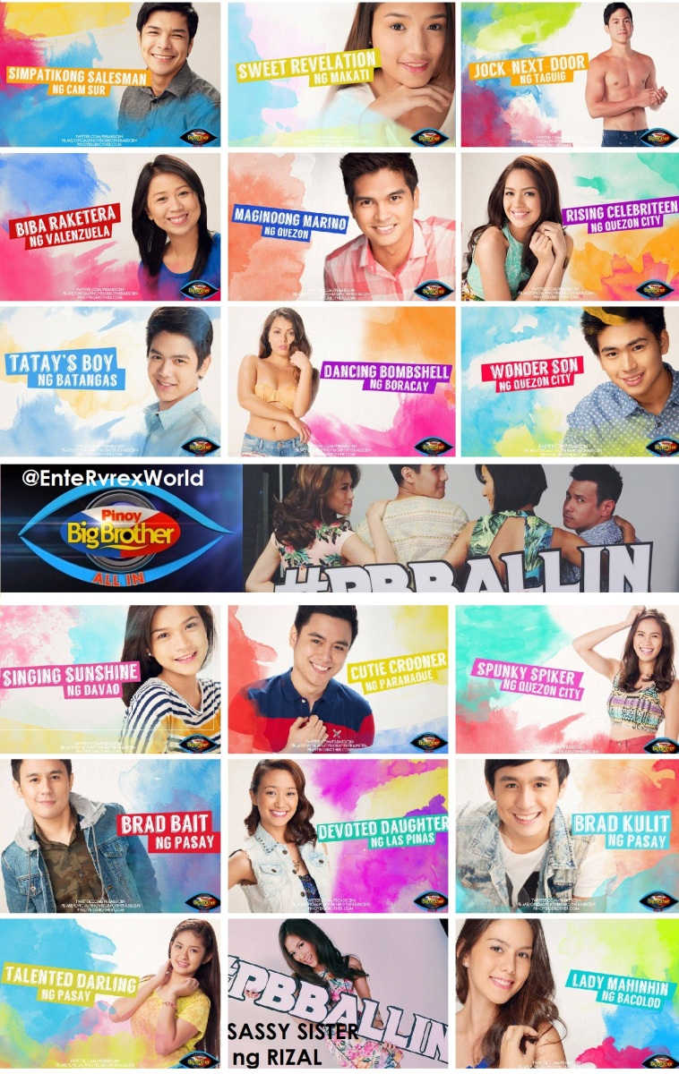 Pinoy Big Brother All In Housemates Revealed!
