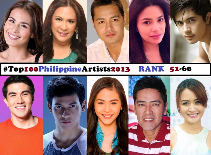 Top 100 Philippine Artists for 2013 [Rank 51-60]