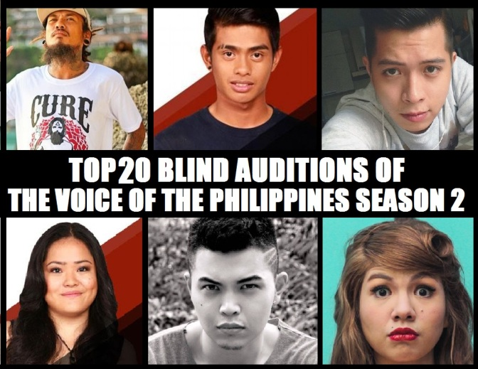 Top 20 Blind Auditions of The Voice of the Philippines Season 2