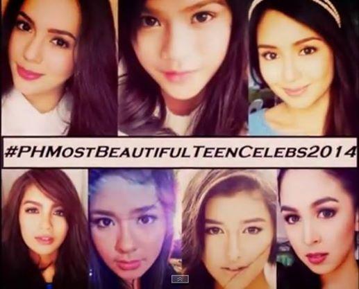 most beautiful teen celebrities in philippines 2014