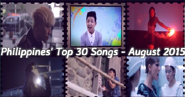 Philippines' Top 30 Songs of Month of August 2015; Darren Espanto Dominates With Stuck