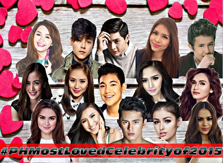 Philippines' Most Loved Celebrity 2015 Nominees Revealed [VOTE NOW]